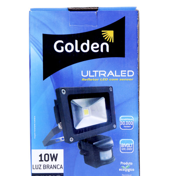 Ultra Led Refletor com sensor - Golden