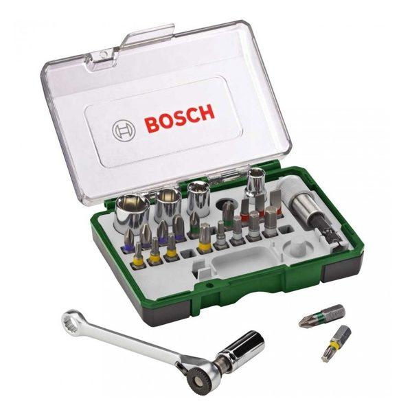Kit de Bits e Soquetes - 27 Peças – Bosch