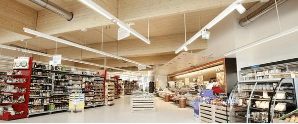 Iluminação para supermercados